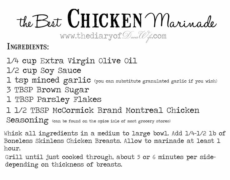 the Diary of DavesWife: Best Chicken Marinade
