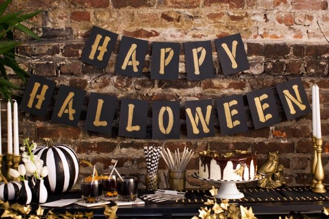 20 Festive Halloween Garlands You Can Buy and DIY via Brit + Co.