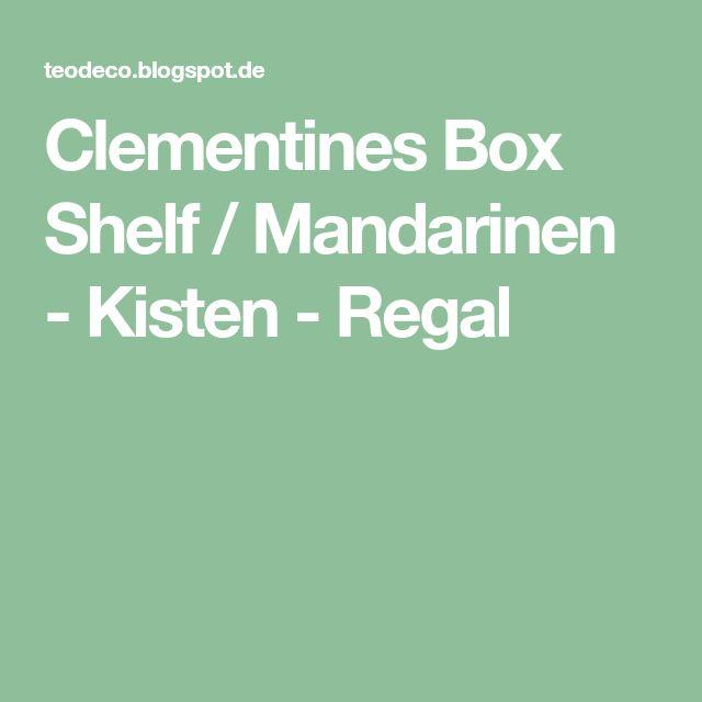 Clementines Box Shelf / Mandarinen - Kisten - Regal