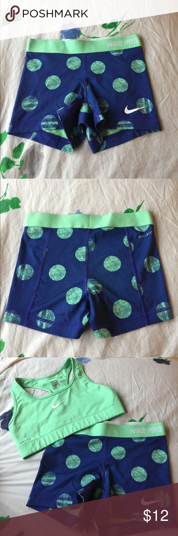 Polka Dot Nike Pro Combat Shorts Polka Dot Nike Pro Combat Shorts!   Bundle with Sports Bra for $7 discount! Nike Shorts