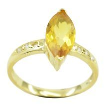 Citrine CZ Gold Plated Ring inviting Yellow gemstones AU gift