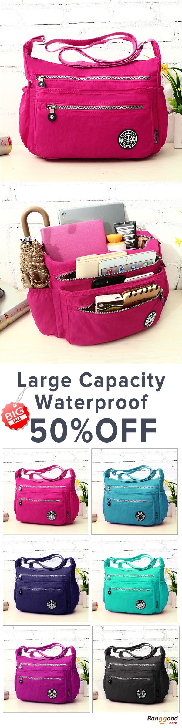 US$18.96+Free shipping.  Women Bags, Waterproof Crossbody Bags, Casual Bags, Chest Bags, Multifunction Handbag, Backpack, Shoulder Bags. Waterproof, Large Capacity. Color: Black, Blue, Green, Purple, Burgundy, Rose Red, Sky Blue, Beige. Shop now~