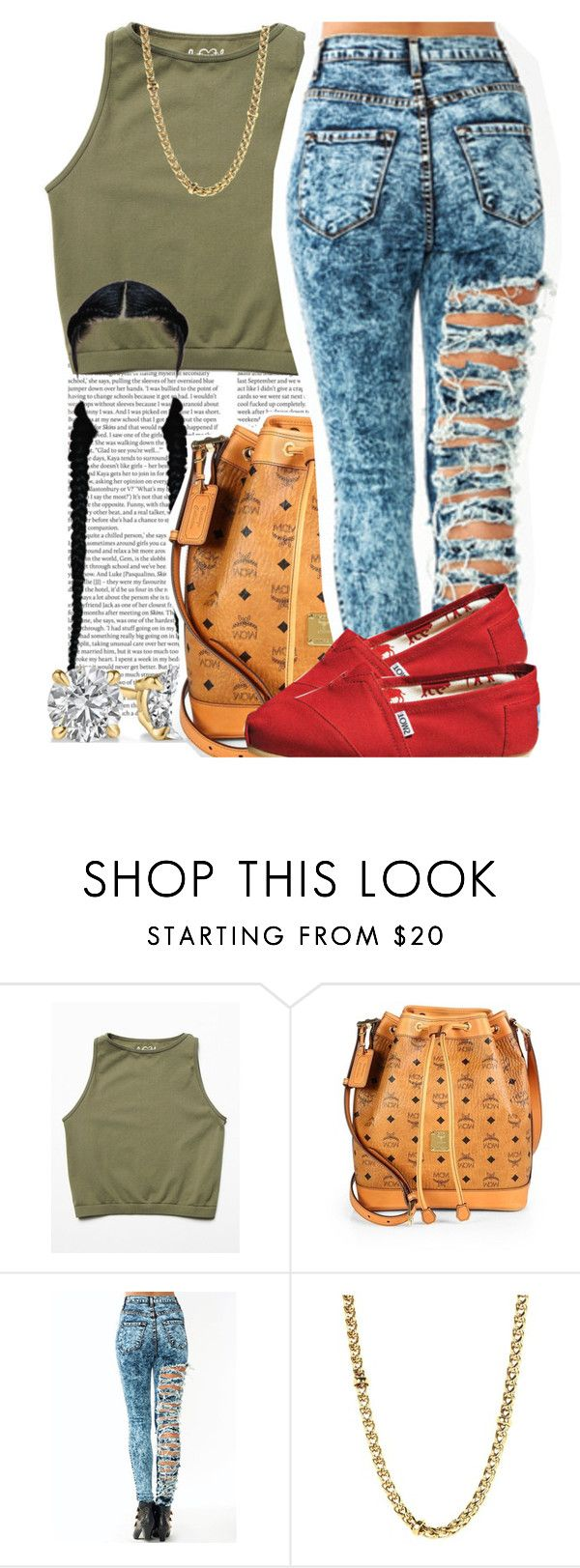 """""""August 16 , 2k15"""" by yungd ❤ liked on Polyvore featuring ASOS, Free People, MCM, Lauren Ralph Lauren, TOMS, women's clothing, women's fashion, women, female and woman"""