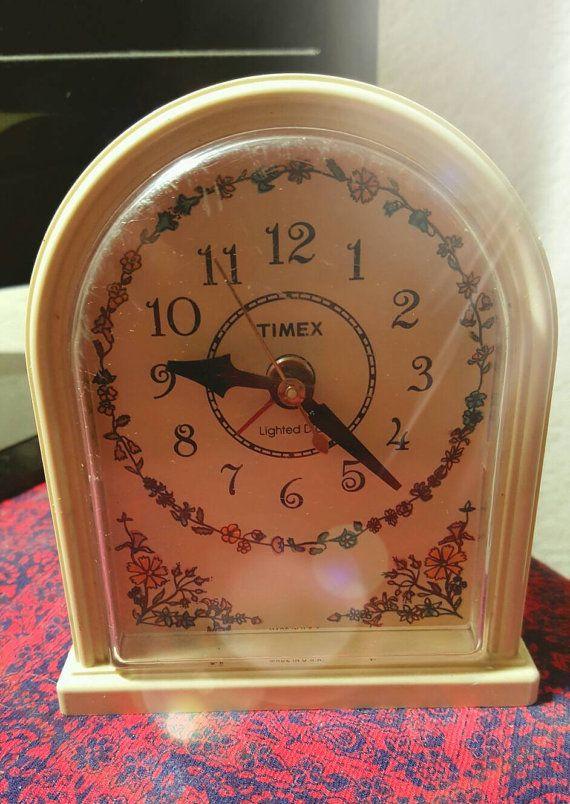 Vintage Timex Alarm clock by OurNostalgia on Etsy