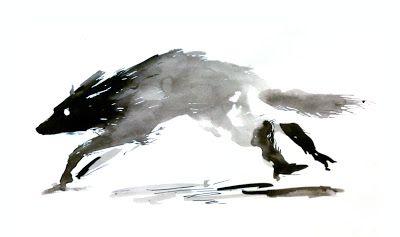 Running wolf.
