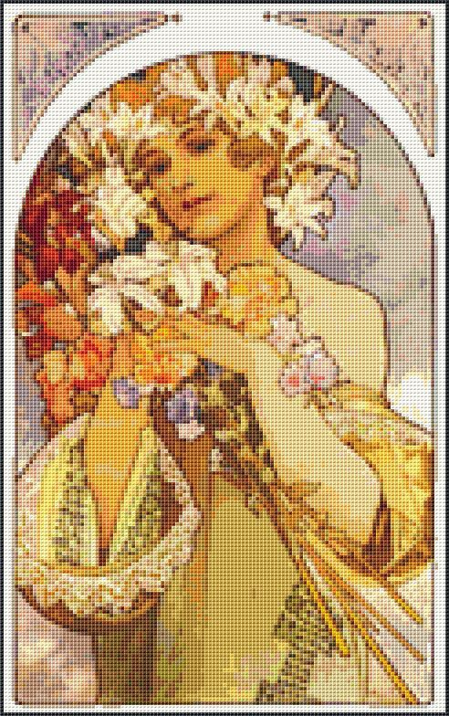 Flowers Counted Cross Stitch CHART by TheArtofCrossStitch on Etsy, $8.99