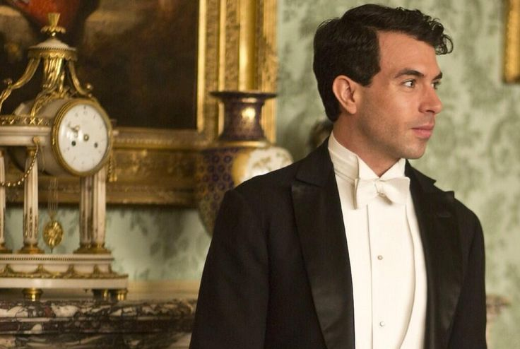 Lady Mary's new beau (?) on Downton Abbey, Tom Cullen, in character as Lord Gillingham.  OK, so maybe he deserves her. Maybe.