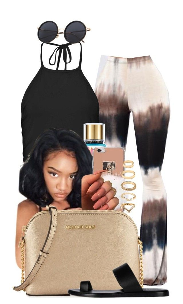 """Hotter than Ever"" by melaninprincess-16 ❤ liked on Polyvore featuring Boohoo, Poetic Justice, MICHAEL Michael Kors and Forever 21"