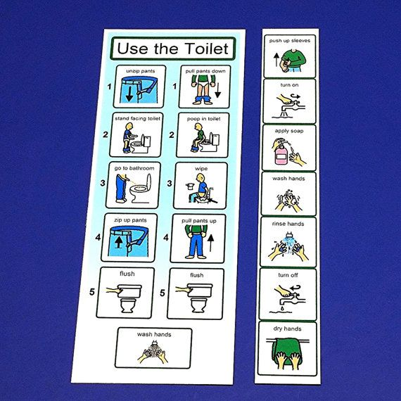 1- Laminated bathroom schedule (Choose from two versions 1) a girl or boy sitting to pee and poop OR 2) Boy stand to pee and sit to poop version) 1- Laminated hand washing schedule  Great visual aids for any family in the stages of potty training.  Purpose of social stories:  ■ Increase expectations  ■ Decrease anxiety  ■ Educate your child ■ Affirm success ■ Share accurate information  ALL MATERIALS are printed in color on 110lb cardstock and heat laminated with commercial-grade laminate…