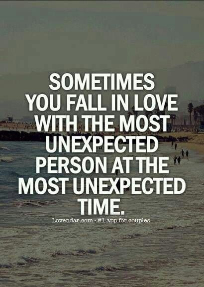 falling in love unexpectedly is the absolute best thing