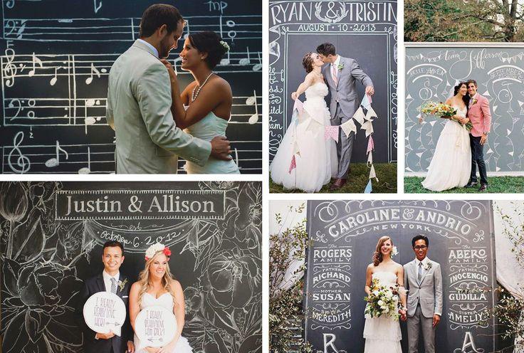 Utilizzare la pittura effetto lavagna per gli sfondi del matrimonio | DIY Blackboard paint for wedding • #lavagna #design #blackboard #paint #wedding
