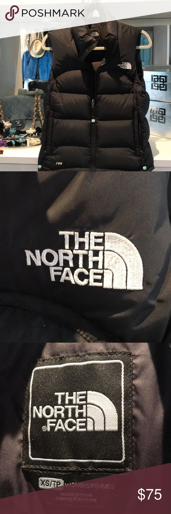 North face Nuptse 2 700 black down vest Black north face puffer style with zip pockets on exterior and hidden inside pocket. A staple and a great layering piece. The North Face Jackets & Coats Vests