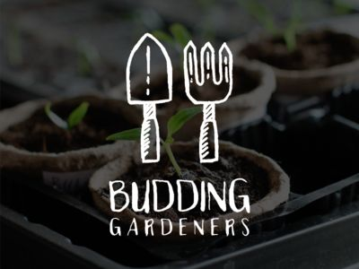 garden branding inspiration ~ Budding Gardeners Logo