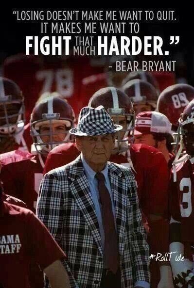 ".The ""BEAR"" always knew exactly what to say.  RTR!!!"