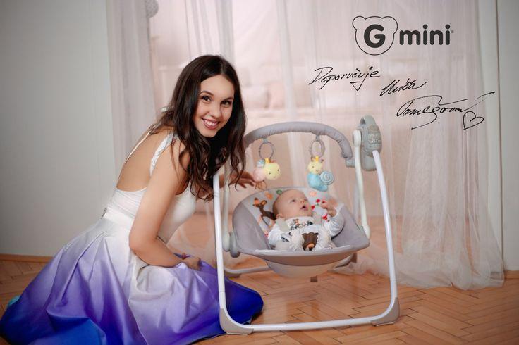 GMINI Elektronické lehátko Glanc zvířátka | Kašpárek Baby