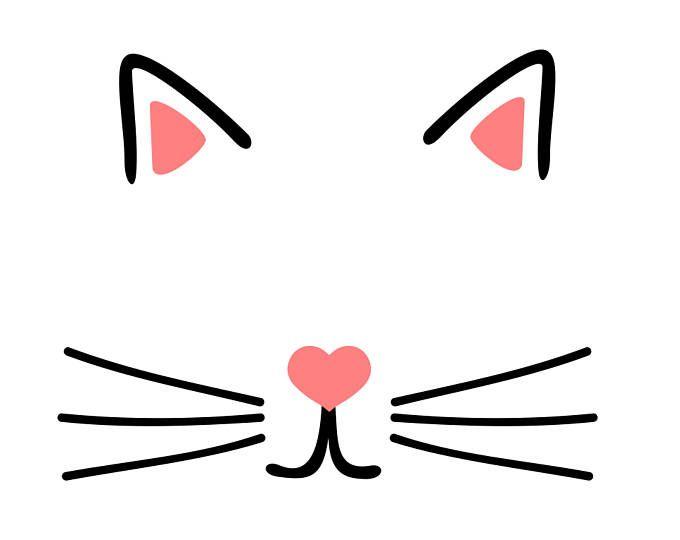 Minnie Mouse Face Svg File Etsy Face Stencils Cat Face Svg