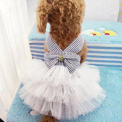 Mascotas Cachorro Perro Gato Princesa Vestido Tutú De Tul Falda verano ropa ropa XS-XXL