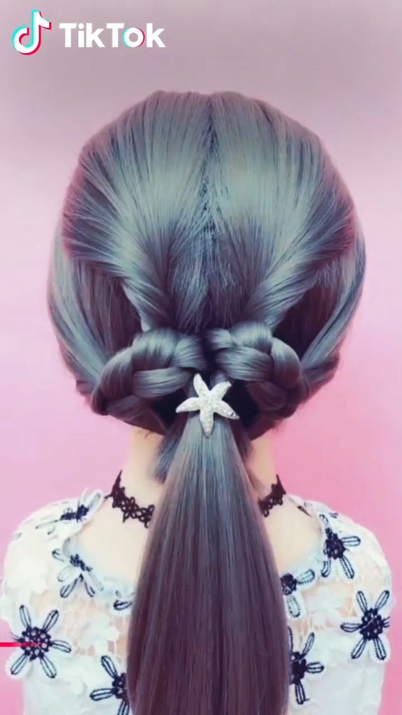 Super Easy To Try A New Hairstyle Download Tiktok Today To Find More Hairsty Hairtutorial Hairstyles Hair Styles Hair Hacks Hair Videos