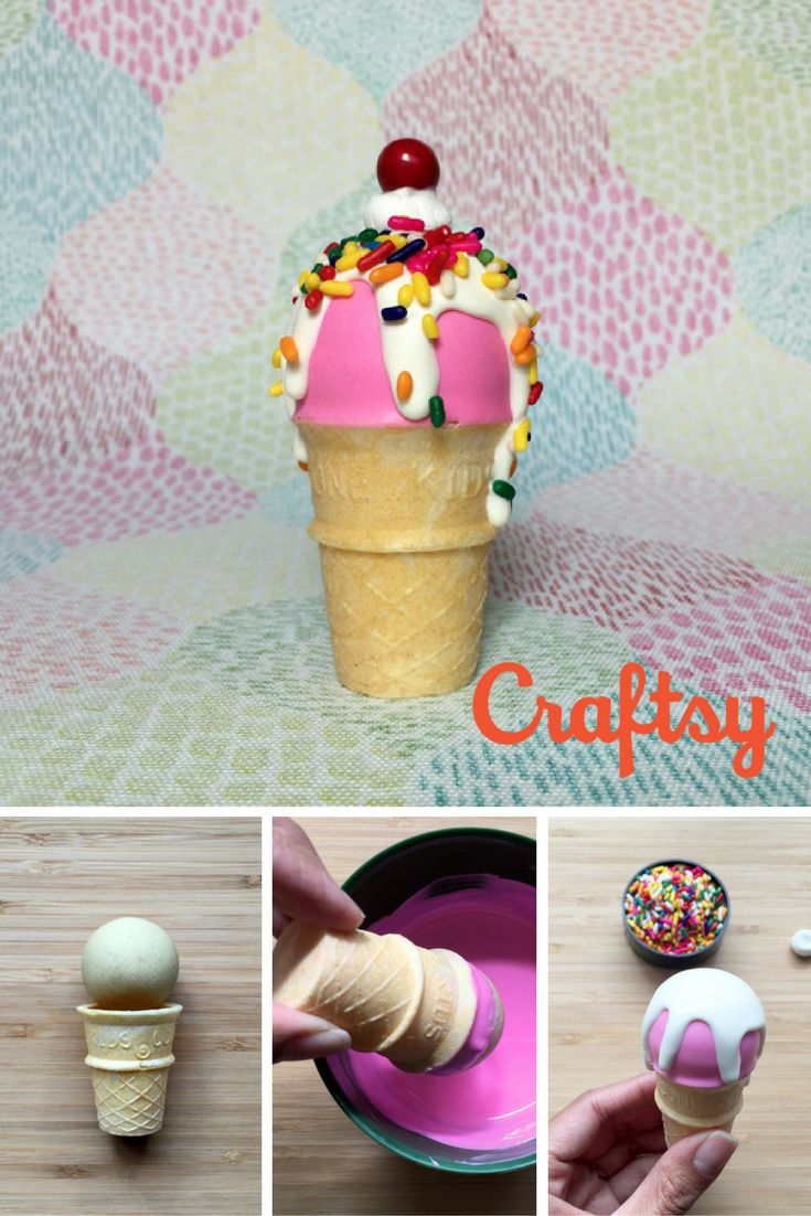 Make These Sweet Ice Cream Cake Pops (With a Cherry on Top!)