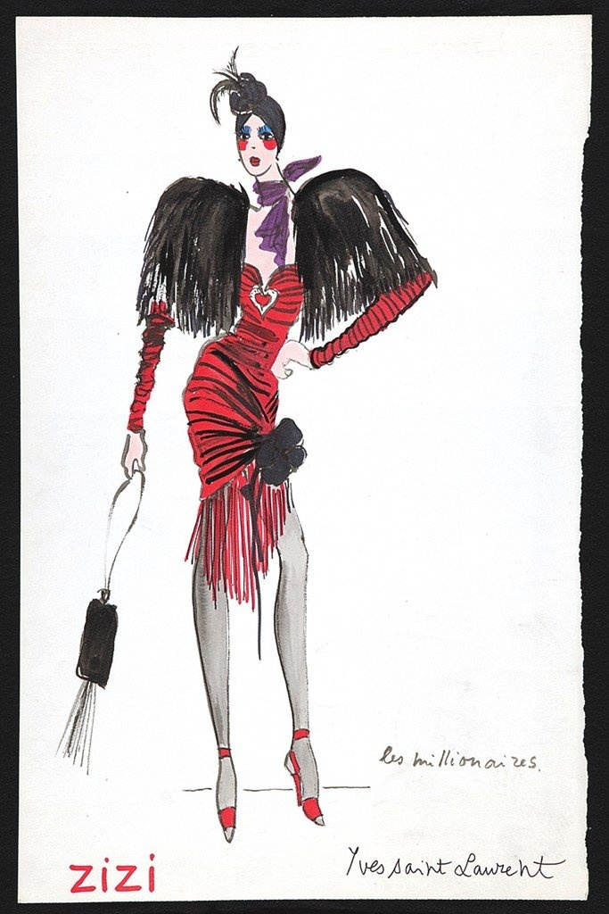 #Yves Saint Laurent Sketches Private Collection