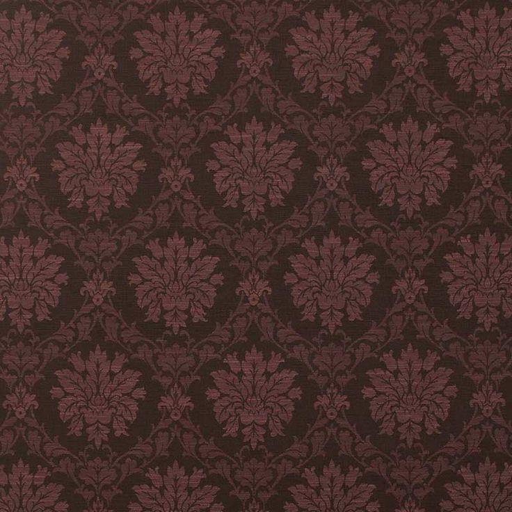 Warwick Fabrics : SOCRATES, Colour AUBERGINE