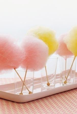 Fun Wedding Food Ideas! (mini cotton candies!! oh my!!)