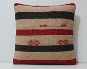 cream pillow case 18x18 coral pillow cover black cushion cover striped pillow cover striped throw pillow red striped kilim pillow sham 16983