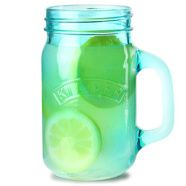 Hire Cocktail Glasses | Drinking Jar Blue Kilner Handled. 400 ml. Perfect for cocktails and soft drinks. Could also be used for decorative display. Order at +353 (1) 687 5066