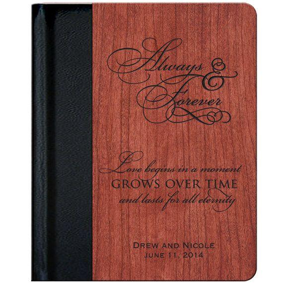 Personalized Rosewood  Wedding Photo Album  by DaySpringMilestones, $69.99