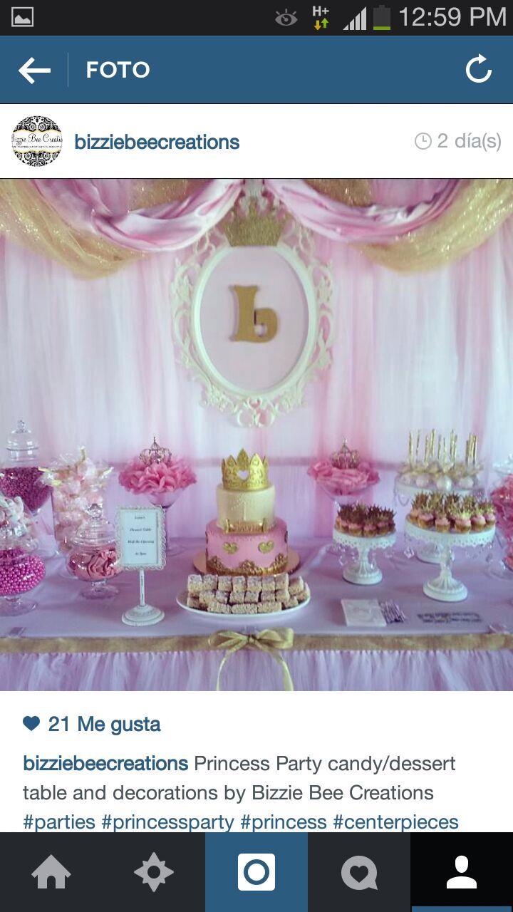 Decoracion princesa mesa de torta