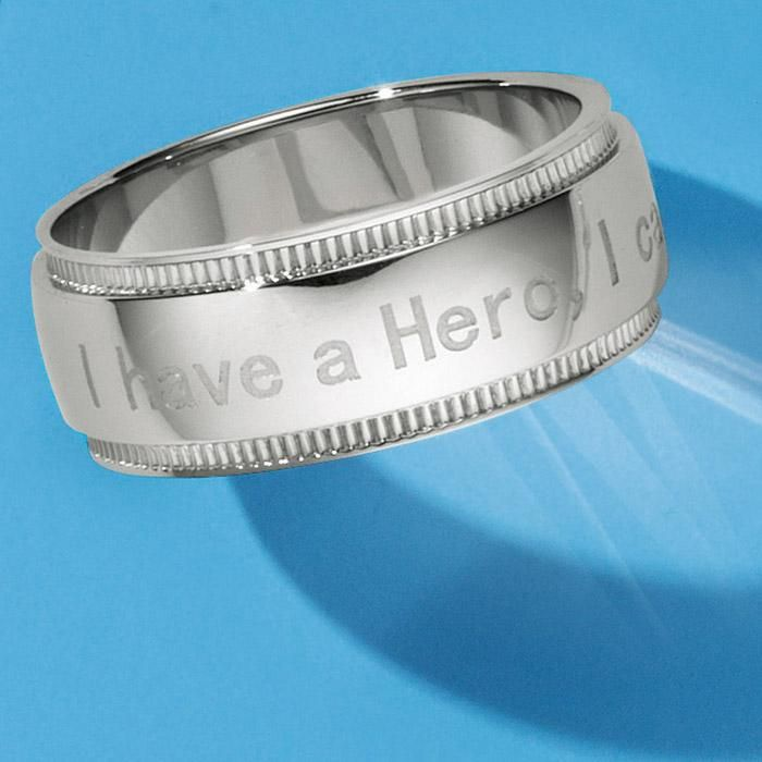 """Stainless Steel Men's I Call Him Dad Ring. Avon. Engraved with the message """" I have a Hero, I call him Dad"""", this is the perfect gift for Father's Day and to celebrate the hero inside. Available in sizes 8 - 12. Regularly $34.99.  NEW & NOW! FREE shipping with any $40 online Avon purchase.  #CJTeam #Avon #Style #Sale #Jewelry #Fashion #C12 #MensJewelry #ForHim #Mens #Ring #Dad #FathersDay #Hero #Stainless Shop Avon jewelry online @ www.TheCJTeam.com"""