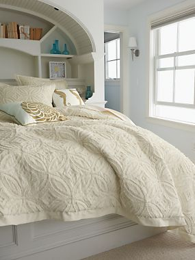 Chatham Chenille Bedspread, Coverlet U0026 Shams | LinenSource