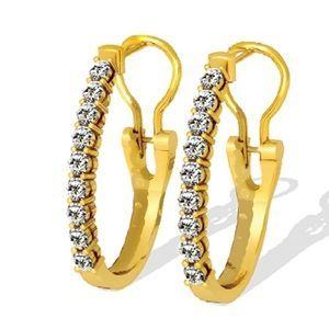 Diamant Ohrringe - 1.00 Karat Diamanten in 585er Gelbgold - http://www.juwelierhausabt.de/products/de/Diamant-Ohrringe/Diamant-Ohrringe/Diamant-Ohrringe-100-Karat-Diamanten-in-585er-Gelbgold.html