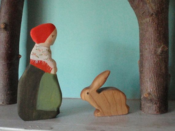 waldorf forest mama doll / elsa beskow /  waldorf nature table - (children of the forest)