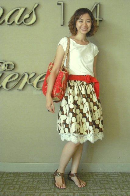 cute batik skirt