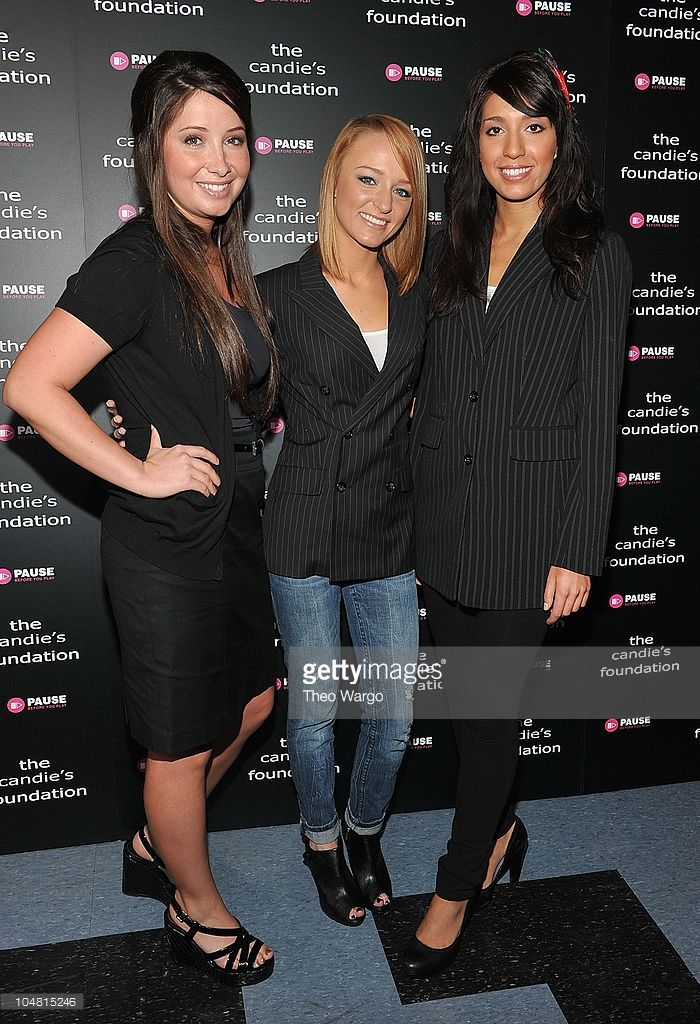 Bristol Palin, Maci Bookout and Farrah Abraham attend ' The Harsh Truth: Teen Moms Tell All' Town Hall Meeting sposored by The Candie's Foundation at Lighthouse International Conference Center on May 5, 2010 in New York City.