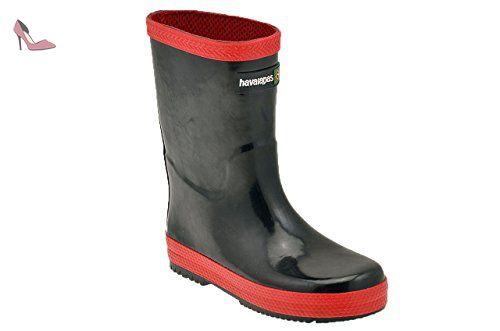 Havaianas  Rain Boots, Bottes de pluie Unisexe enfant - multicouleur - Noir/rouge, - Chaussures havaianas (*Partner-Link)