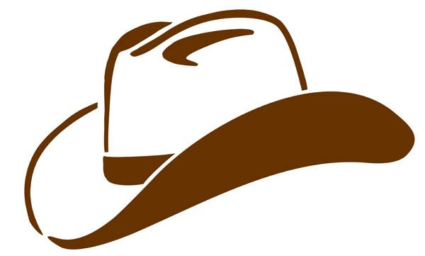 Cowboy Hat Clipart Black And White | Clipart Panda - Free Clipart ...