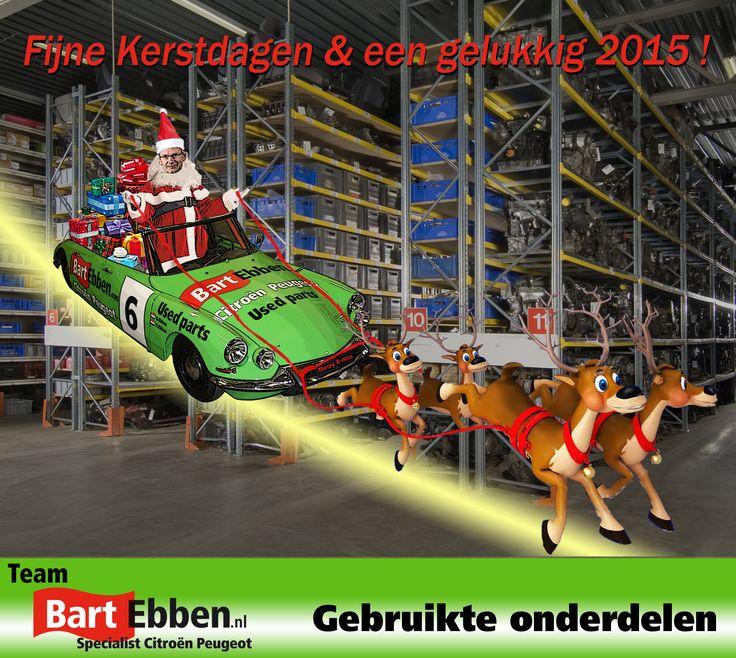 Kerstwens en een gelukkig 2015 Bart Ebben Specialist Citroën Peugeot. Tweedehands onderdelen en BOVAG Autobedrijf in Malden bij Nijmegen