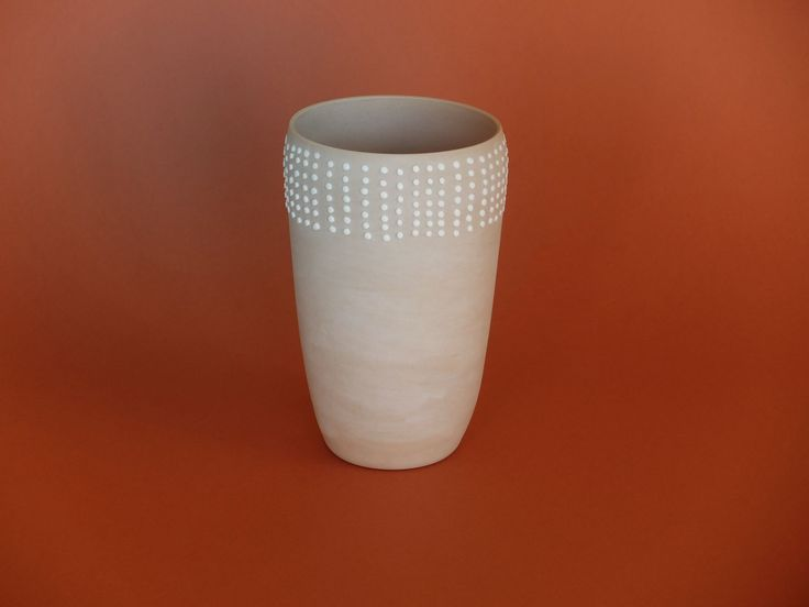 Porcelain Dotted Vase by Cast Ceramics
