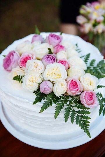 #engagement #cake #carrotcake #rustic #silk #roses