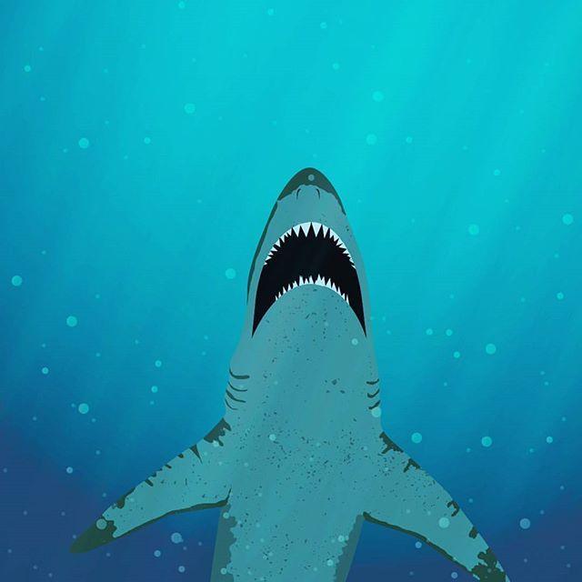 #shark #sharkattack #illustration #kzphotography #kzillustration #sea #underwater #underwaterphotography #sharkillustration #bottom #blue #lightrays #dark #deepblue #fish #bigfish #hunting