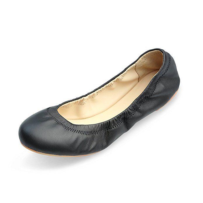 5b0fb5f341fbd Amazon.com | Xielong Women's Chaste Ballet Flat Lambskin Loafers ...