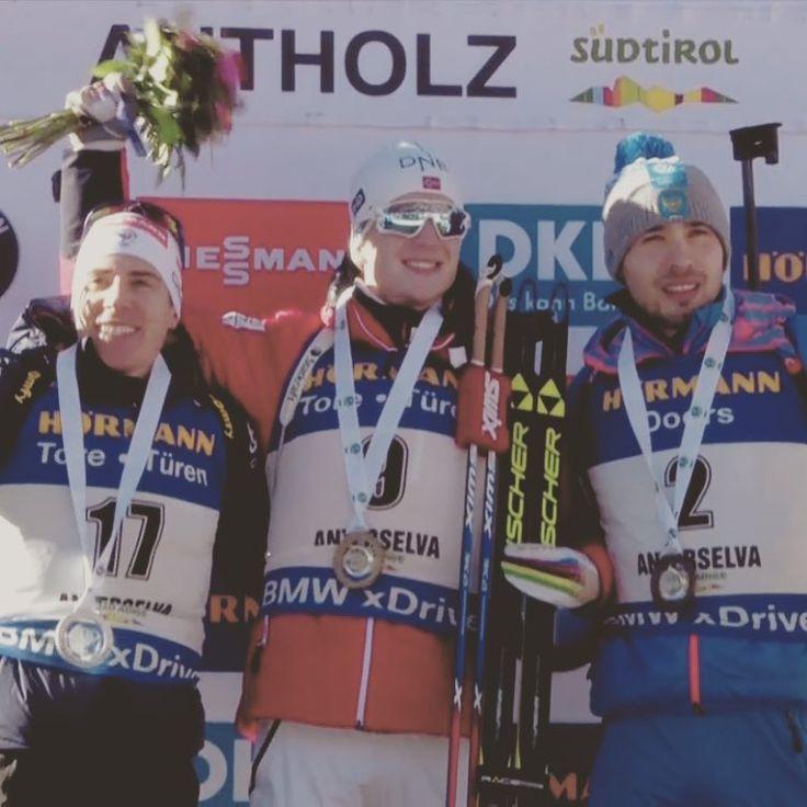 Победители масс-старта Антхольц-2017. 1.Норвегия 2.Франция, бронза - Антон Шипулин. #ski #спорт #biathlon #sport #антоншипулин #биатлон #антхольц #антерсельва