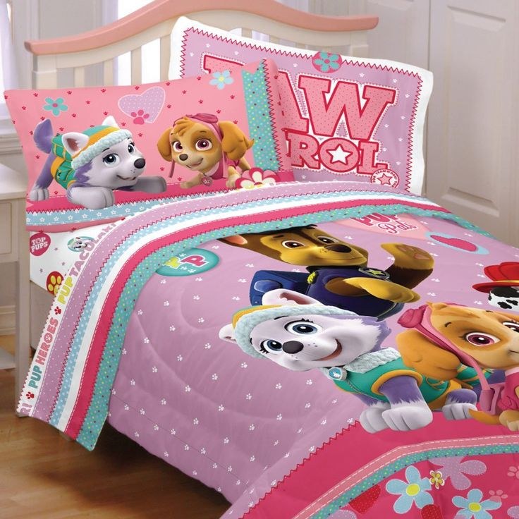 Paw Patrol Bed Set Best Pup Pals Skye and Everest Comforter and Sheet Set //Price: $38.27 & FREE Shipping //     #hashtag4