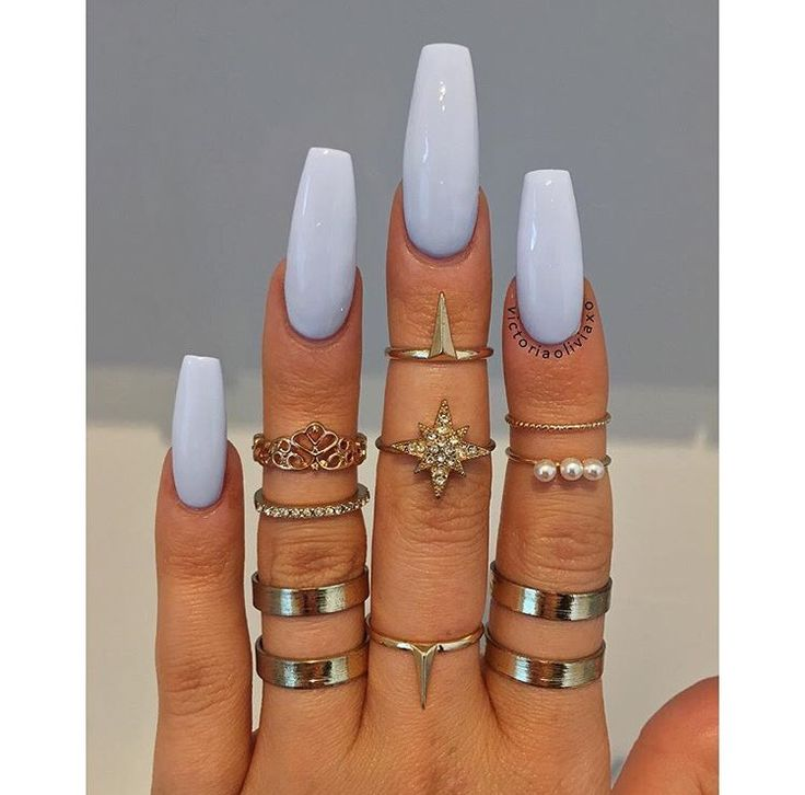 Pretty Designs For Long Fake Nails Without Acrylic