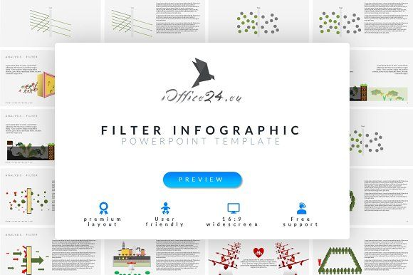 Filter infographic | PowerPoint by ioffice24 on @creativemarket