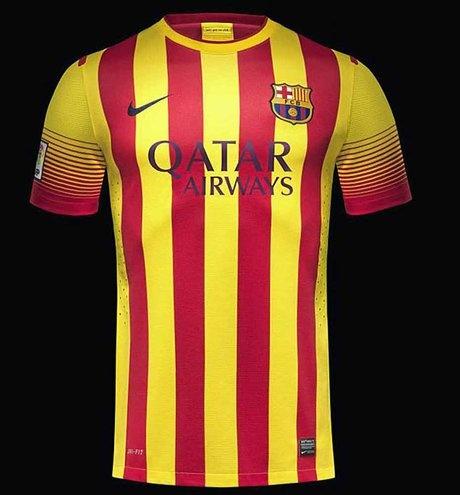 Les nouveaux maillots du Barça affichent le drapeau catalan