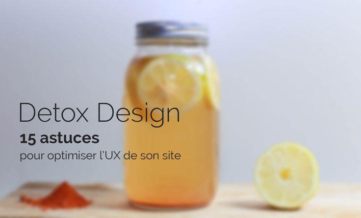 Votre site internet aprit bon coup de vieux. Il est encrassé, il tourne au ralenti, il n'est plus accueillant comme avant, il ne fait plus l'unanimité ? Profitez du printemps, c'est l'occasion idéale pour faire une bonne détox design avec nos 15 astuces pour optimiserl'UX de votresite.  L'UX c'est le design centré sur l'Expérience Utilisateur. C'est