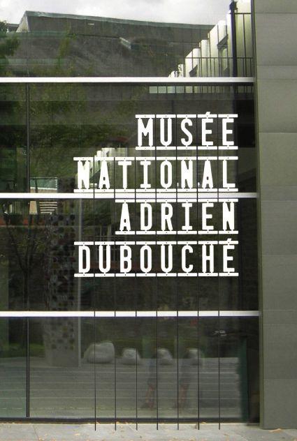 Musée National Adrien Dubouché - Signalétique entrée